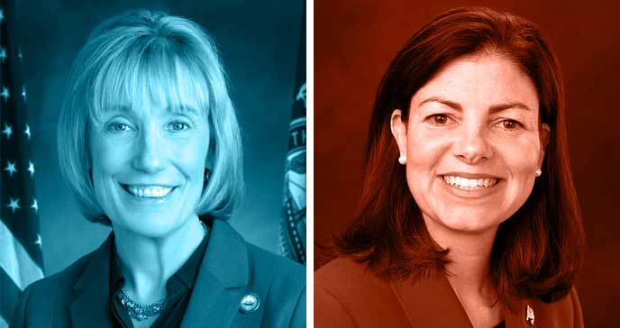 Maggie Hassan and Kelly Ayotte